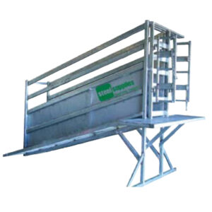 Cattle ramp with steel supplies charters towers logo