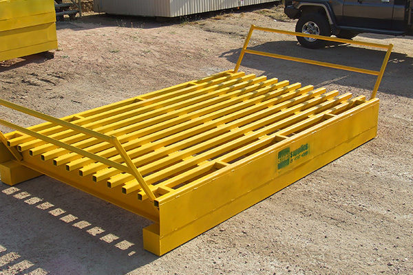 yellow grid cattle handling equipment