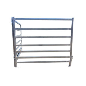 Man Gate on white background cattle handling equipment