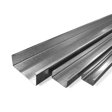 Purlins on white background steel supplies