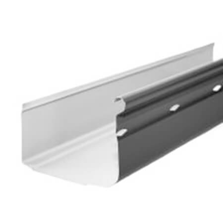Quad Gutter on white background steel supplies
