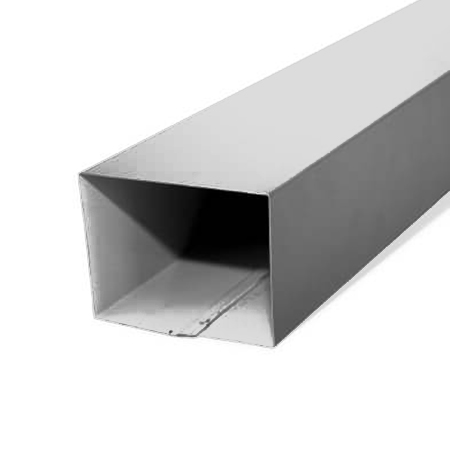 Square Downpipes on white background steel supplies