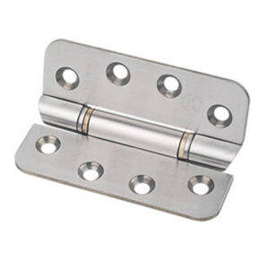 Hinge on white background steel supplies