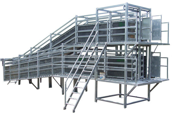 double decker loading ramp cattle handling equipment