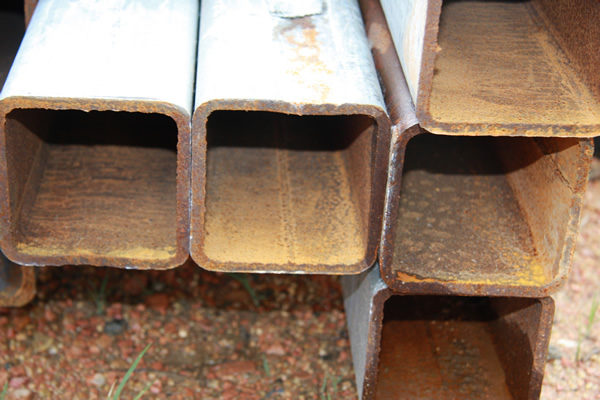 square steel tubes stacked together steel supplies