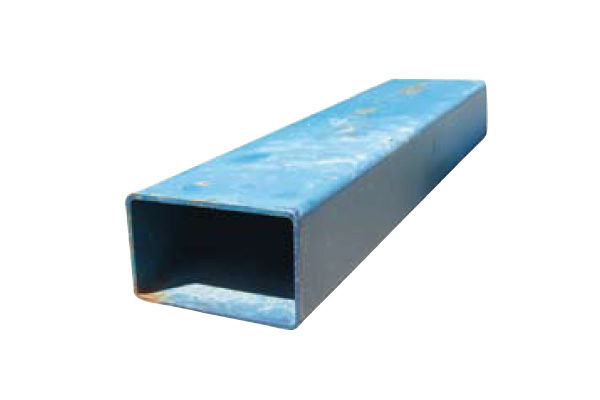 blue steel bar on a white background