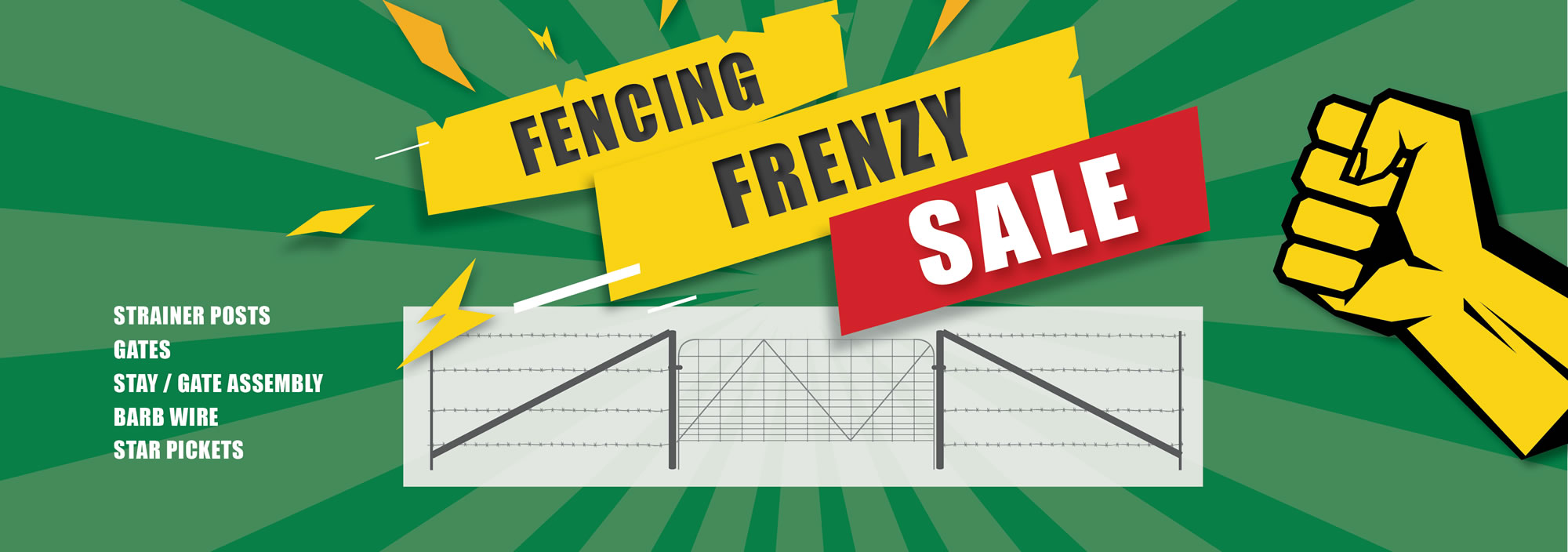 fencing frenzy sale banner without stamp